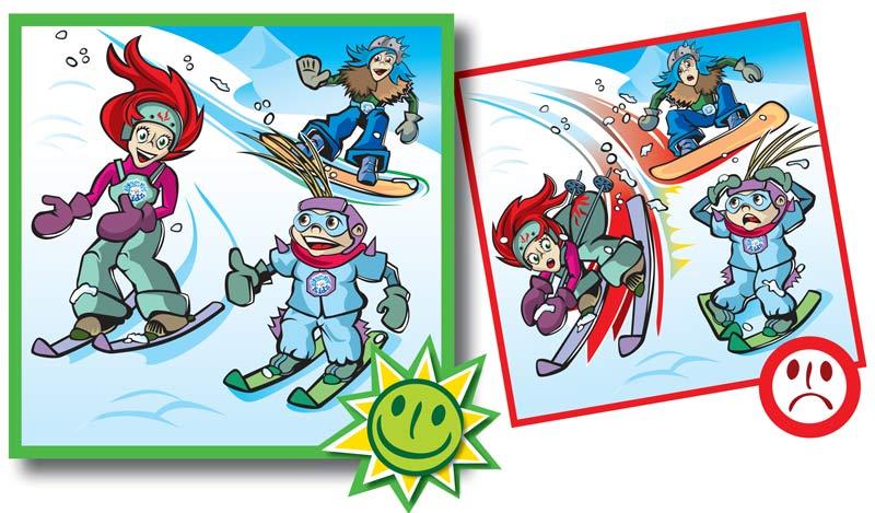 Normas de conducta en pistas de esquí-1