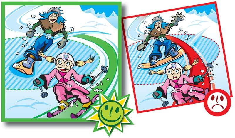 Normas de conducta en pistas de esquí-4