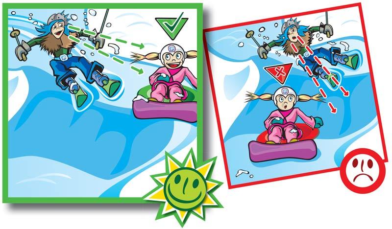 Normas de conducta en pistas de esquí-6