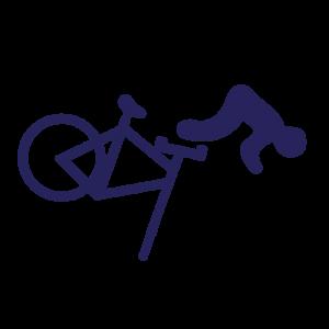 Icono accidente bicicleta