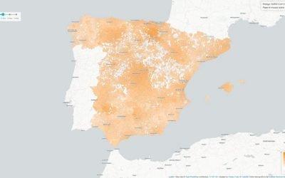 Mapa de riesgo de coronavirus en España
